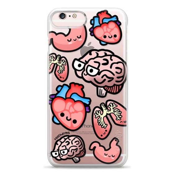 iPhone 6s Plus Cases - Love Your Anatomy // Illustrated Cute Science Biology Heart Brain Lung Stomach roocharms