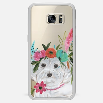 Samsung Galaxy S7 Edge ケース Boho Maltipoo by Bari J. Designs