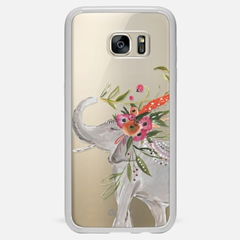 Samsung Galaxy S7 Edge ケース Boho Elephant by Bari J. Designs