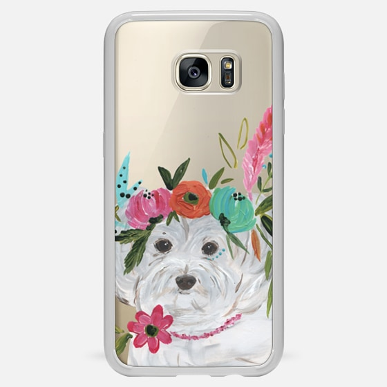 Galaxy S7 Edge Case - Boho Maltipoo by Bari J. Designs