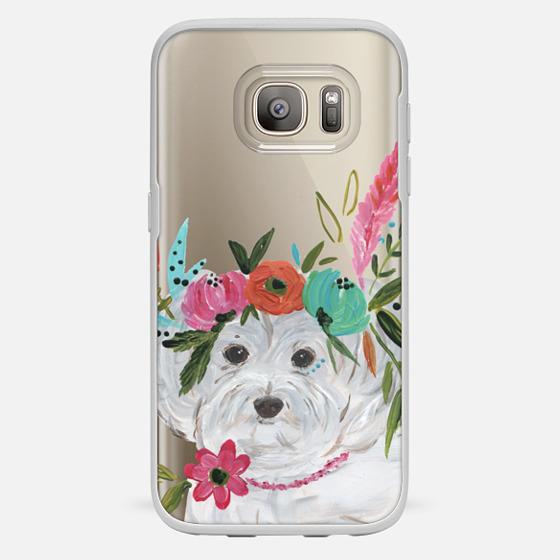 Galaxy S7 Hülle - Boho Maltipoo by Bari J. Designs