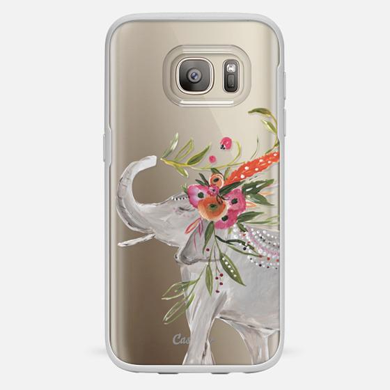 Galaxy S7 Hülle - Boho Elephant by Bari J. Designs