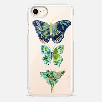 iPhone 8 Case Boho butterfly trio painted floral flowers bohemian by Bari J.