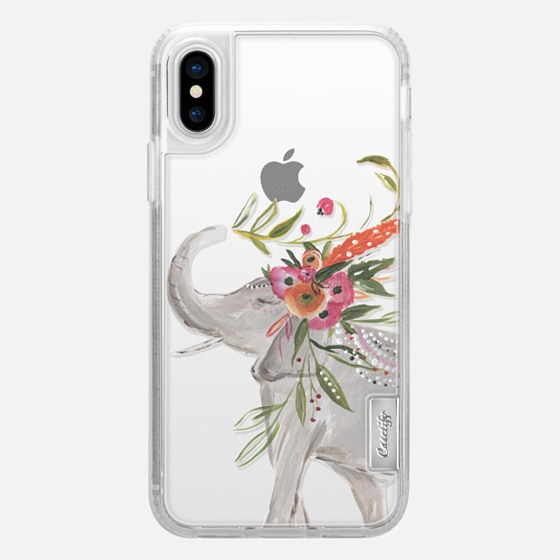 iPhone X Funda - Boho Elephant by Bari J. Designs