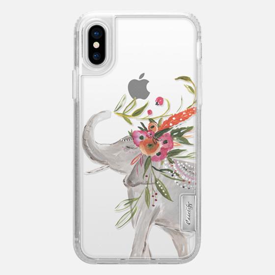 iPhone X Case - Boho Elephant by Bari J. Designs