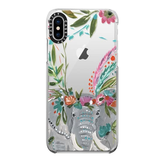 iPhone X Cases - Boho Elephant II by Bari J. Designs
