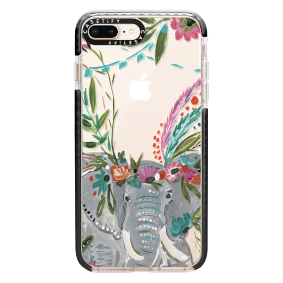 iPhone 8 Plus Cases - Boho Elephant II by Bari J. Designs
