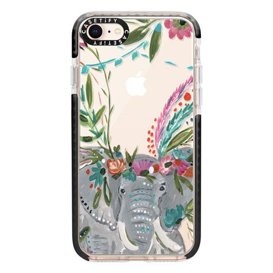 iPhone 8 Cases - Boho Elephant II by Bari J. Designs