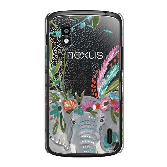 Nexus 4 Cases - Boho Elephant II by Bari J. Designs