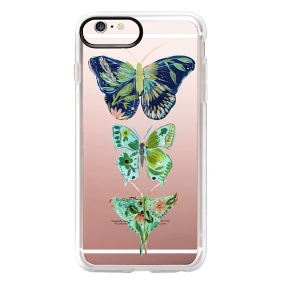 iPhone 6s Plus Cases - Boho butterfly trio painted floral flowers bohemian by Bari J.
