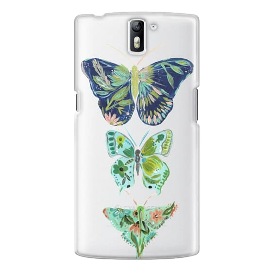 One Plus One Cases - Boho butterfly trio painted floral flowers bohemian by Bari J.