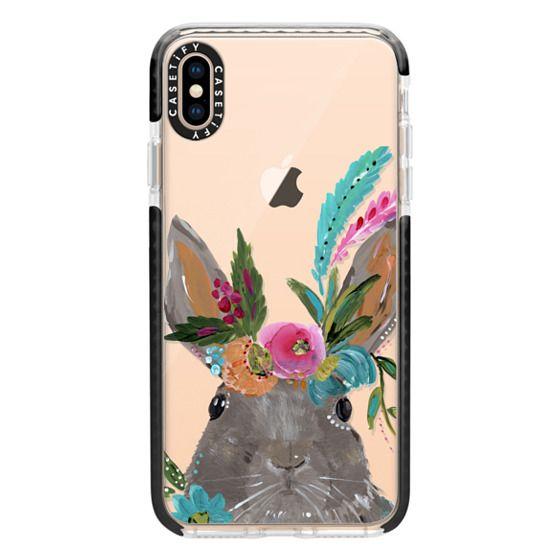 iPhone XS Max Cases - Boho Bunny Rabbit