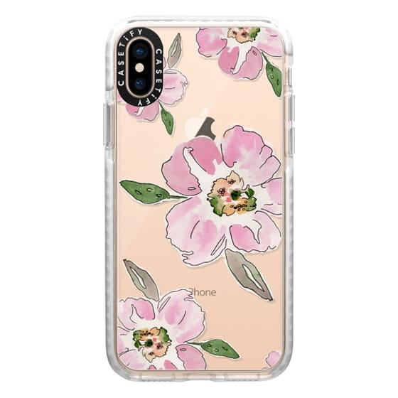 iPhone XS Cases - Pink Blossoms