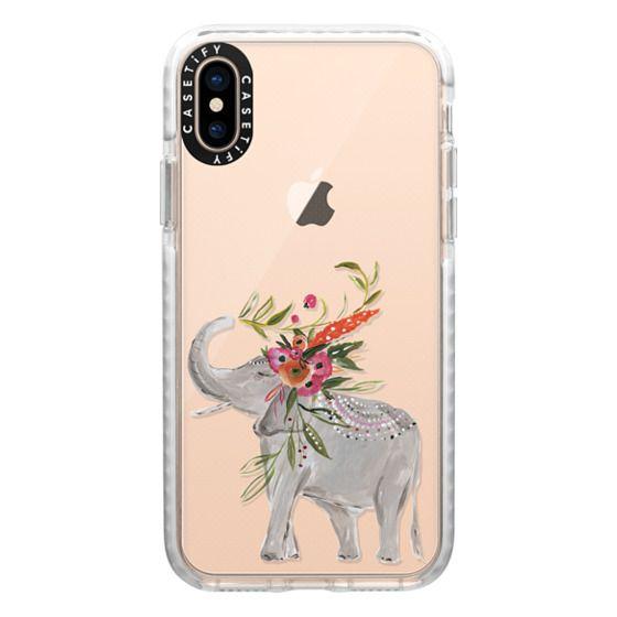 iPhone XS Cases - Boho Elephant 2 by Bari J. bohemian floral flowers