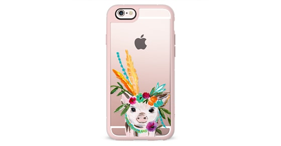 Boho Pig Miss Piggy Floral Flowers Bouquet Crown Feathers By Bari J. by Casetify