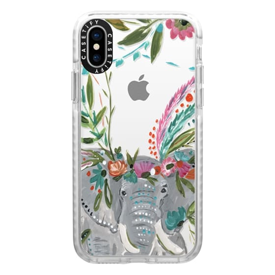 iPhone X Cases - Boho Elephant II by Bari J. Designs