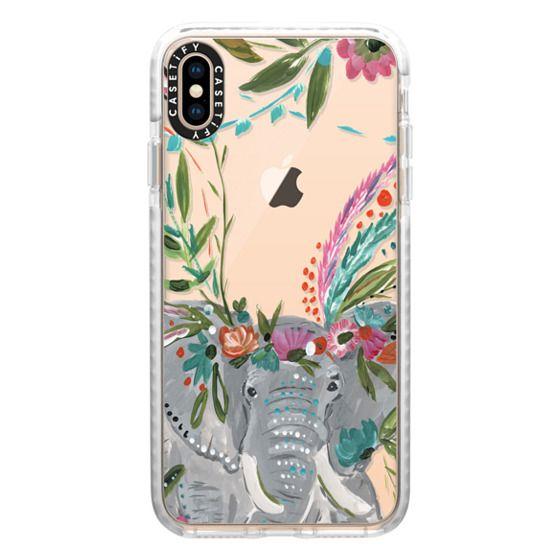 iPhone XS Max Cases - Boho Elephant II by Bari J. Designs