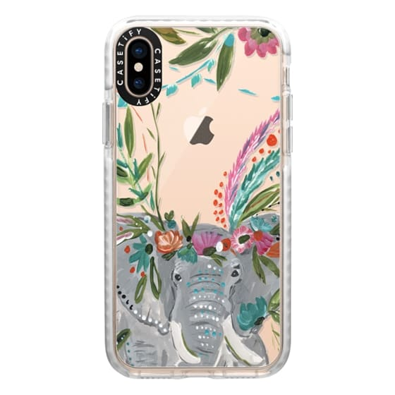 iPhone XS Cases - Boho Elephant II by Bari J. Designs