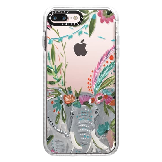 iPhone 7 Plus Cases - Boho Elephant II by Bari J. Designs