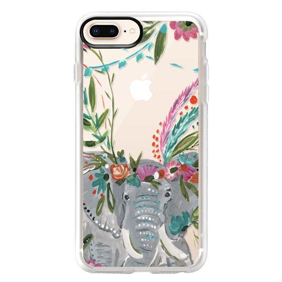 iPhone 8 Plus Cases - Boho Elephant II by Bari J. Designs