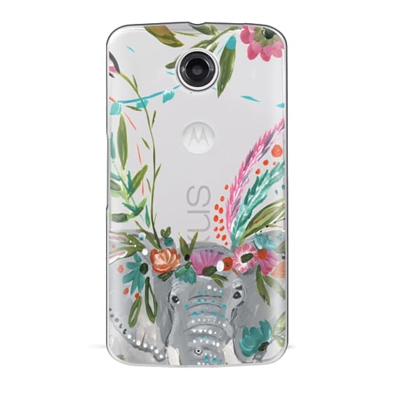 Nexus 6 Cases - Boho Elephant II by Bari J. Designs
