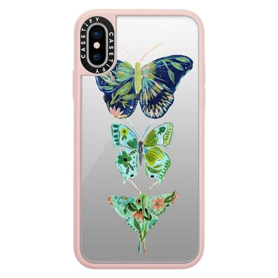 iPhone X Cases - Boho butterfly trio painted floral flowers bohemian by Bari J.