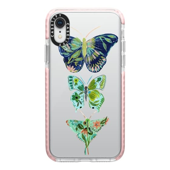 iPhone XR Cases - Boho butterfly trio painted floral flowers bohemian by Bari J.