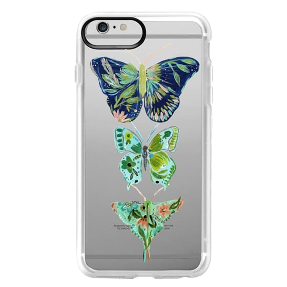 iPhone 6 Plus Cases - Boho butterfly trio painted floral flowers bohemian by Bari J.