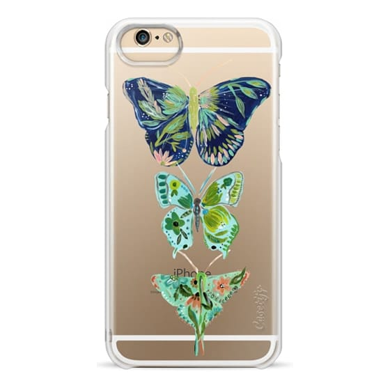 iPhone 6 Cases - Boho butterfly trio painted floral flowers bohemian by Bari J.