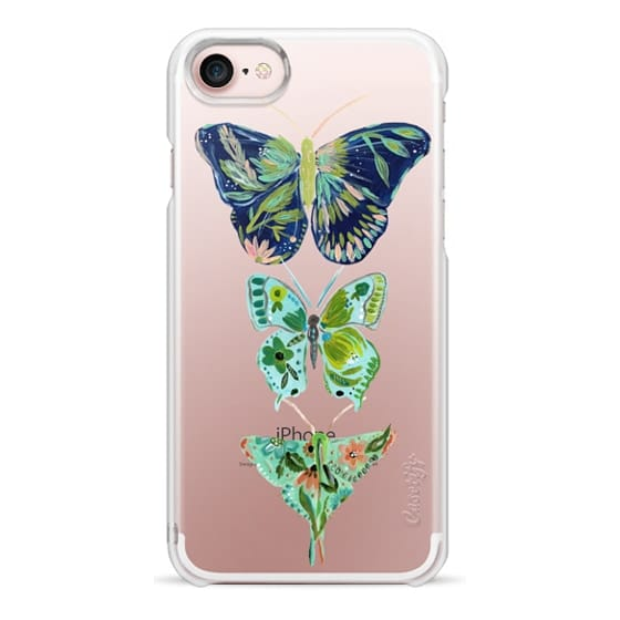 iPhone 7 Cases - Boho butterfly trio painted floral flowers bohemian by Bari J.