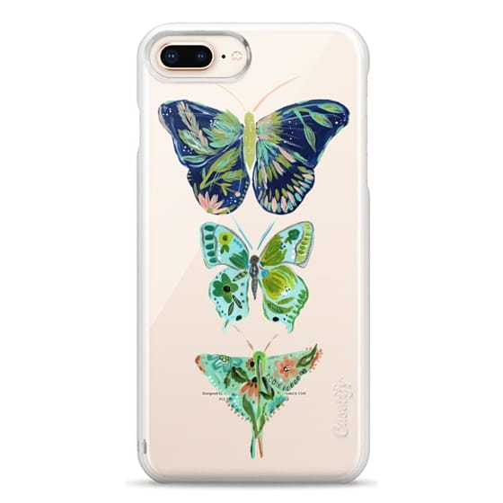 iPhone 8 Plus Cases - Boho butterfly trio painted floral flowers bohemian by Bari J.