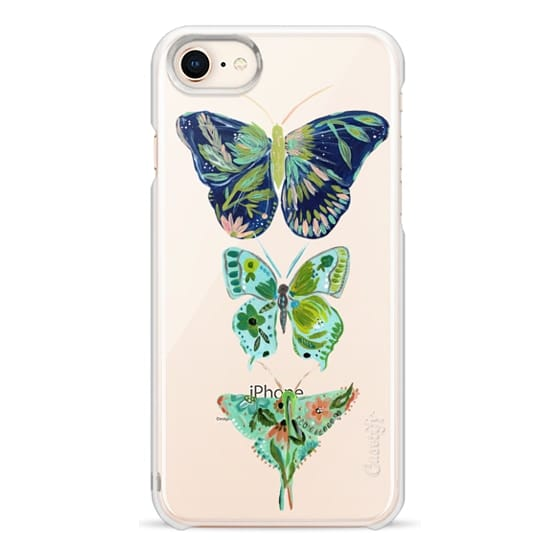 iPhone 8 Cases - Boho butterfly trio painted floral flowers bohemian by Bari J.