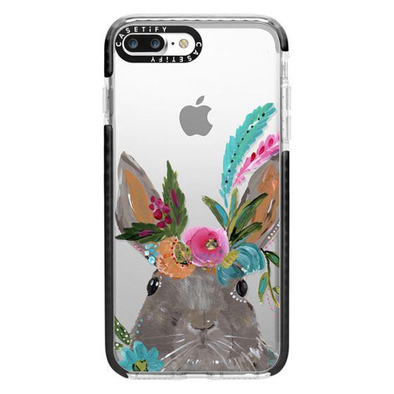 iPhone 7 Plus Cases - Boho Bunny Rabbit