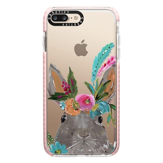 iPhone 7 Plus Cases - Boho Bunny Rabbit