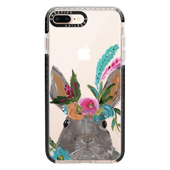iPhone 8 Plus Cases - Boho Bunny Rabbit