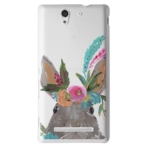 Sony C3 Cases - Boho Bunny Rabbit