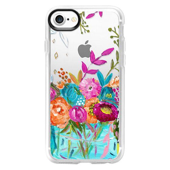 iPhone 7 Cases - bouquet 1 clear case