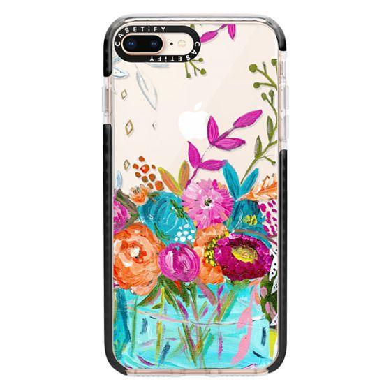 iPhone 8 Plus Cases - bouquet 1 clear case