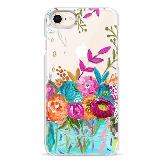 iPhone 8 Cases - bouquet 1 clear case