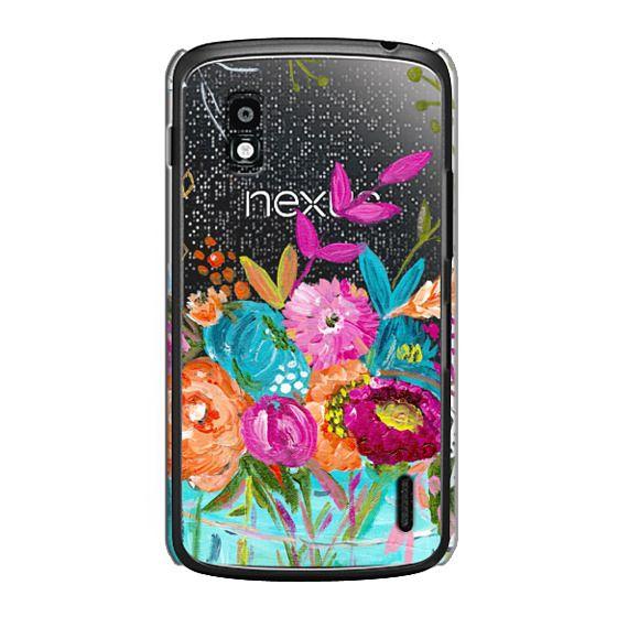 Nexus 4 Cases - bouquet 1 clear case