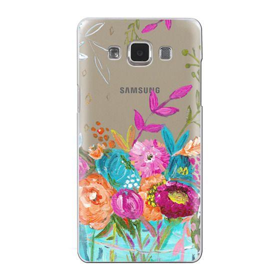 Samsung Galaxy A5 Cases - bouquet 1 clear case