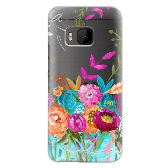 Htc One M9 Cases - bouquet 1 clear case