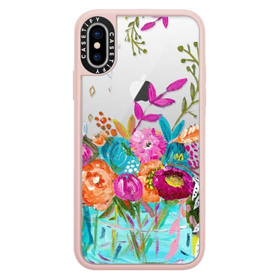 iPhone X Cases - bouquet 1 clear case