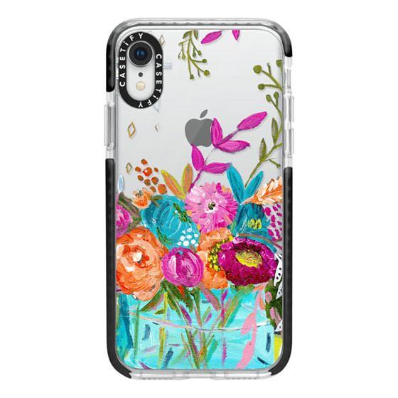 iPhone XR Cases - bouquet 1 clear case
