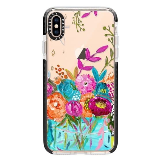 iPhone XS Max Cases - bouquet 1 clear case