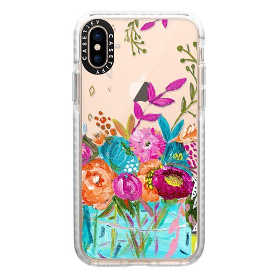 iPhone XS Cases - bouquet 1 clear case