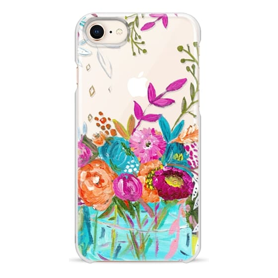 iPhone 8 Cases - bouquet 1 clear case