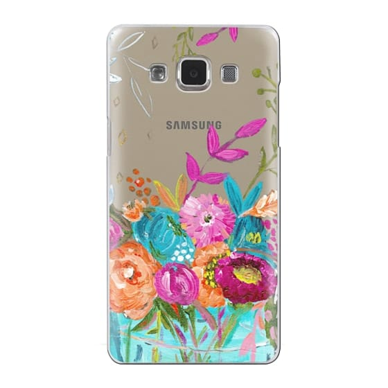 Samsung Galaxy A5 Cases - bouquet 1 clear case
