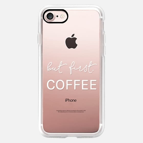 But First- Coffee - Modern and Minimal Semi-Transparent Case -