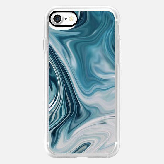 Modern Blue Marble - Fall - Winter Inspired Case -